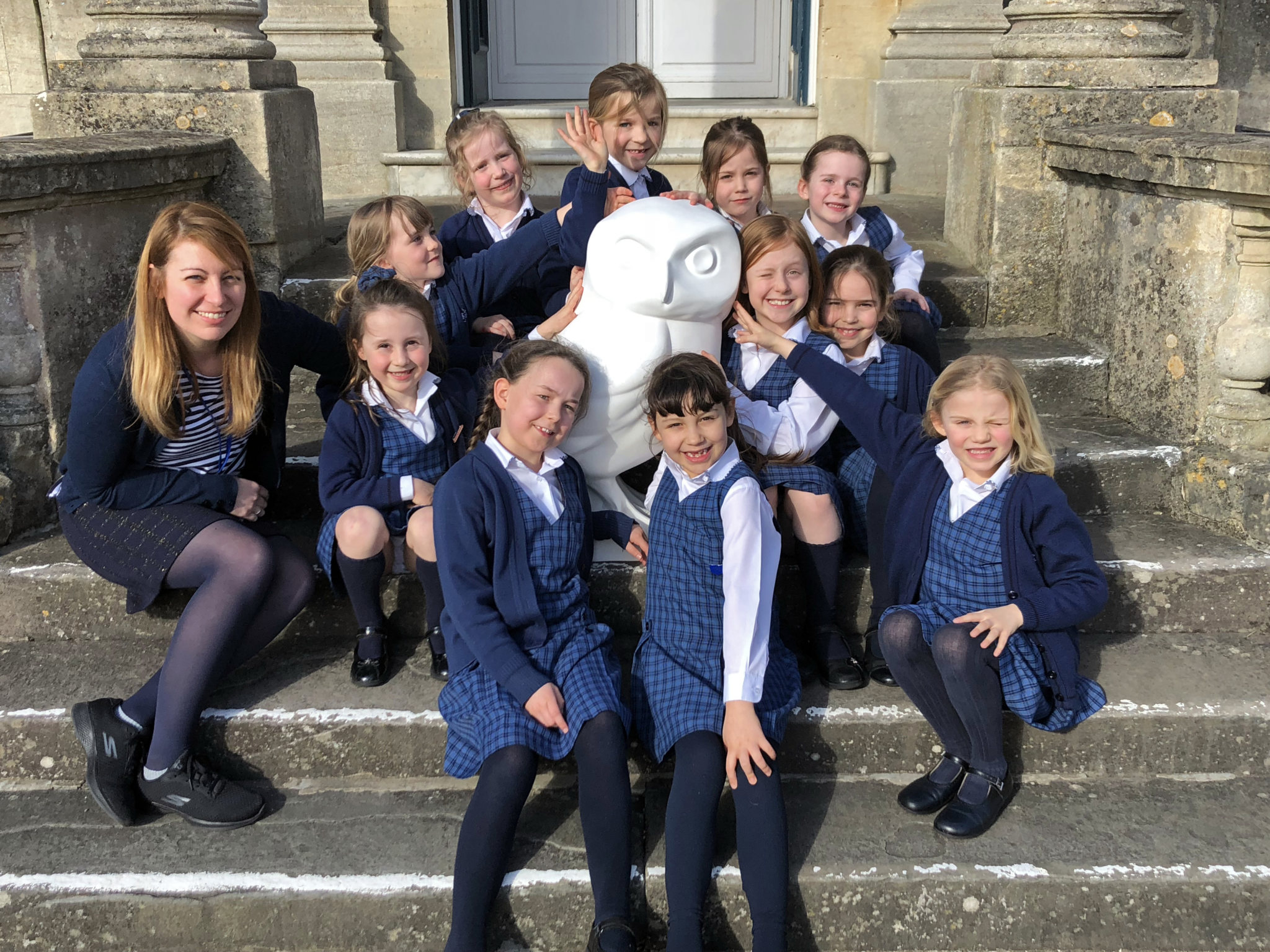 Owlet's first day at Royal High Junior School