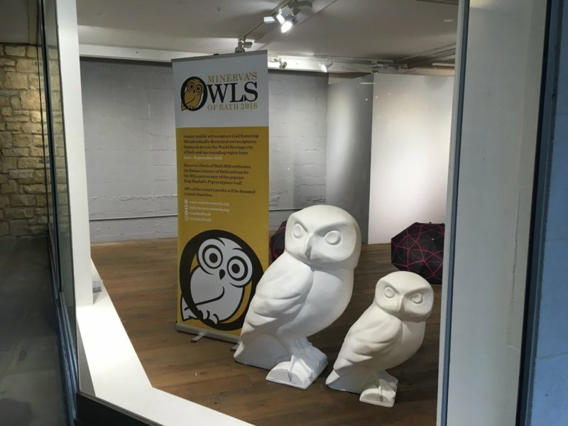Owls land in Milsom Place, en route to Artists