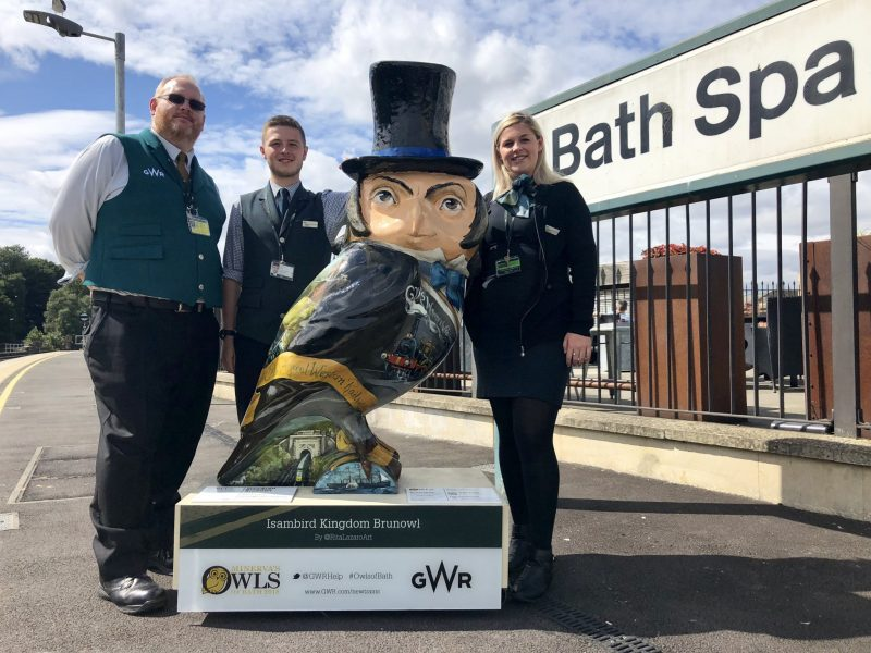 IsamBIRD Kingdom BrunOWL lands at Bath Spa Station