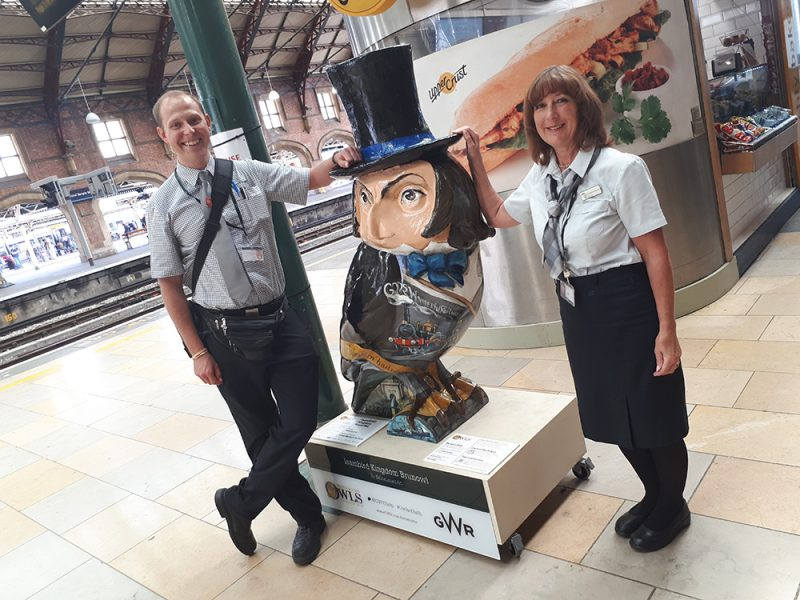 IsamBIRD Kingdom BrunOWL lands at Bristol Temple Meads Station